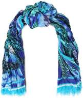 Roberto Cavalli Printed Cotton And Silk-Blend Scarf