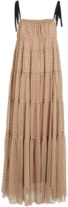 STAUD Lilia Polka Dot Tulle Maxi Dress