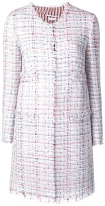 Thom Browne Oversized Tweed Cardigan Overcoat