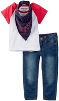 True Religion Branded Raglan Tee, Jean, & Bandana 3-Piece Set (Toddler Girls)