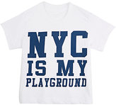"""Little DiLascia """"NYC Is My Playground"""" T-Shirt-WHITE, NAVY"""