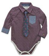 Sovereign Code Sovereign CodeTM 2-Piece Shirt and Fish Tie Bodysuit in Burgundy