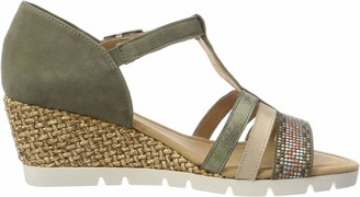 Gabor Women's Comfort Sport Strappy Sandals Multi-Colour Green Size: 5.5 UK