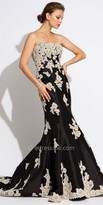 Jovani Lace Applique Mermaid Evening Dress
