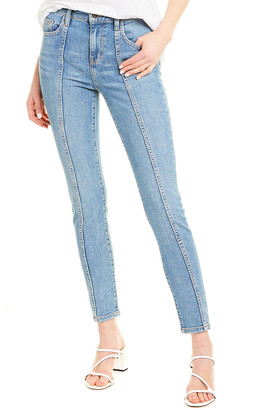 Current/Elliott The Seamed Fiester High-Waist Skinny Ankle Cut