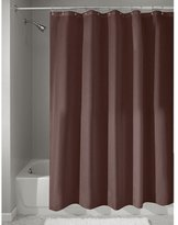 InterDesign Mildew-Free Water-Repellent Fabric Shower Curtain, 183 x 183 cm - Chocolate Brown