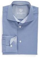 Bugatchi Men's Trim Fit Houndstooth Dress Shirt