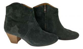 Isabel Marant Dicker Blue Suede Ankle boots