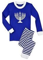 Sara's Prints Unisex Menorah Holiday Pajama Set - Little Kid