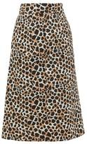 Sea Apollo Leopard-print Cotton A-line Skirt - Womens - Leopard