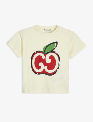 Gucci Apple GG logo-embroidered cotton T-shirt 3-36 months