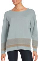 Lafayette 148 New York Needlepunch Drop-Shoulder Sweater