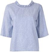 Lareida V-neck pinstripe blouse - women - Cotton/Linen/Flax - 44