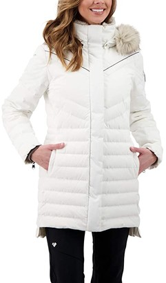 Obermeyer Blossom Down Parka w/ Faux (White) Women's Clothing