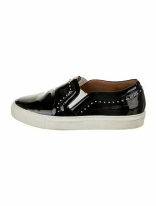 Givenchy Patent Leather Studded Accents Loafer Sneakers Black