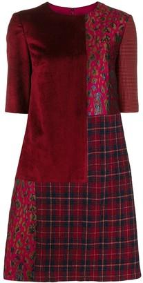 Talbot Runhof patchwork short dress