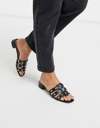 Aldo Studly kitten heel mule sandal with studs