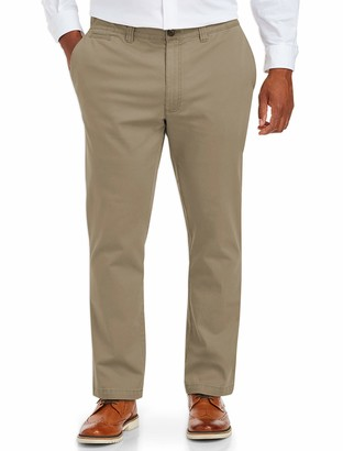 Amazon Essentials Men's Big & Tall Tapered-Fit Broken-in Stretch Chino Pant fit by DXL