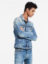 Calvin Klein Vintage Light Blue Denim Trucker Jacket