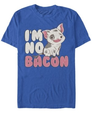 Disney Men's Moana Pua Cute I'm No Bacon, Short Sleeve T-Shirt
