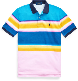 Ralph Lauren Striped Cotton Mesh Polo Shirt