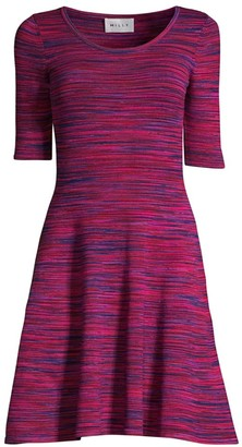Milly Space-Dye Fit-&-Flare Dress