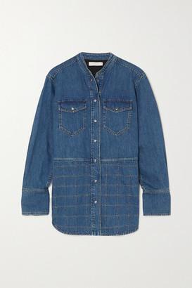 Chloé Topstitched Denim Shirt - Blue