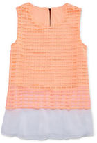 Total Girl Sleeveless Lace Peplum Top - Girls 7-16 and Plus