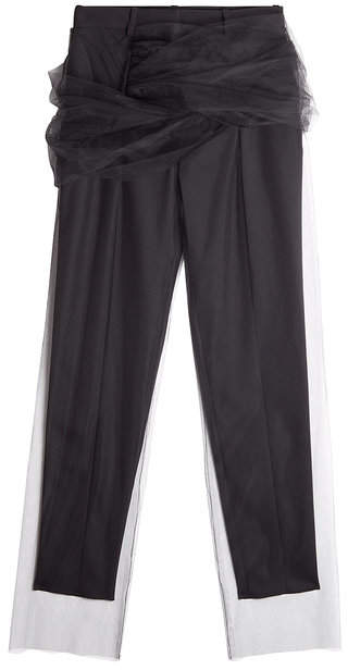 Y/Project Pants with Tulle Overlay