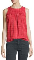 The Great The Sweet Smock Sleeveless Top, Picnic Stitch