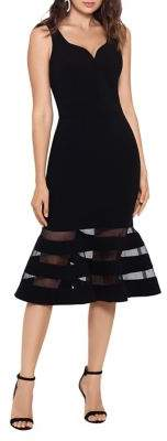 Betsy & Adam Sleeveless Knee-Length Dress