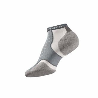 Thorlo Thorlos Experia Unisex XCCU Multi-Sport Thin Padded Low Cut Sock Gray Medium