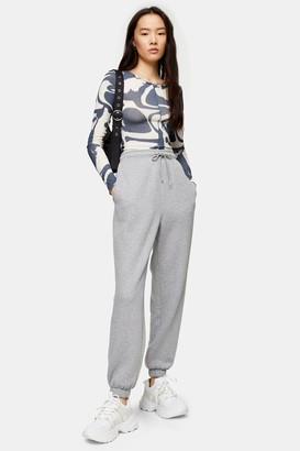 Topshop Womens Grey Marl 90'S Oversized Joggers - Grey Marl