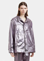 Eckhaus Latta Metallic Jacket in Lavender