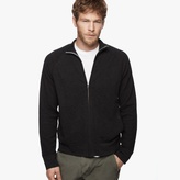 James Perse Cotton Cashmere Thermal Zip-Up
