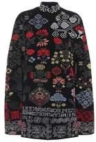 Alexander McQueen Wool-blend poncho