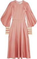 Roksanda Hillevi Hammered Silk-satin Midi Dress - UK10