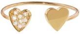 Jennifer Meyer Two Heart Ring - Yellow Gold