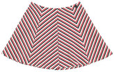 Mayoral Stretch Jersey Chevron Skirt, Navy/Red, Size 8-16