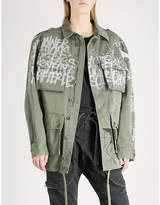 Faith Connexion Graffiti-print cotton-canvas parka jacket