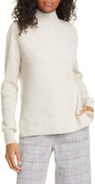 Veronica Beard Rama Ribbed Merino Wool & Cashmere Sweater