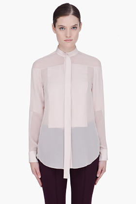 3.1 Phillip Lim Nude Silk Floating Panel Blouse