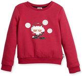 Karl Lagerfeld DJ Choupette Pullover Sweatshirt, Cranberry, Size 12-16