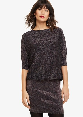 Phase Eight Becca Rainbow Shimmer Knitted Dress