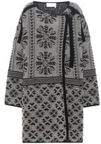 Chloé Printed Wool And Cashmere Cardigan