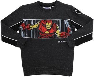 Iron Man Print Cotton Sweatshirt