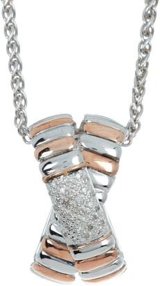 Effy Sterling Silver Crystal Pave Pendant Neckalce