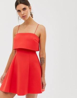Asos DESIGN crop top scuba mini skater dress