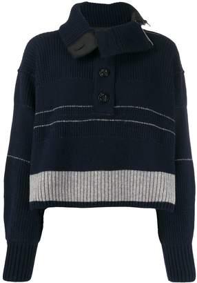 Sacai ribbed logo sweater