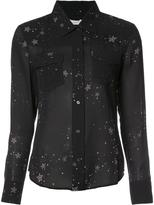 A.L.C. stars print sheer shirt - women - Silk - 4